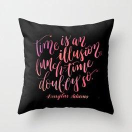 Douglas Adams Quote Throw Pillow