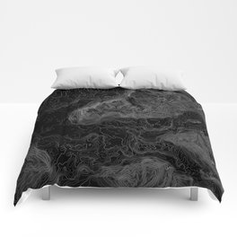 NORTH BEND WA TOPO MAP - DARK Comforters
