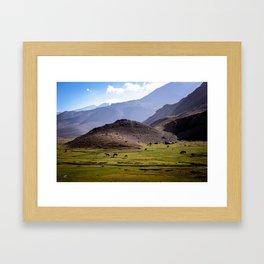 """Cordillera de los Andes"" Framed Art Print"
