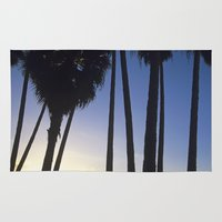 palm trees Area & Throw Rugs featuring Palm Trees by Martin Llado