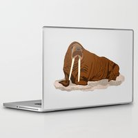 walrus Laptop & iPad Skins featuring Pacific Walrus by Arts and Herbs