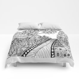 Zentangle Illustration - Road Trip Comforters