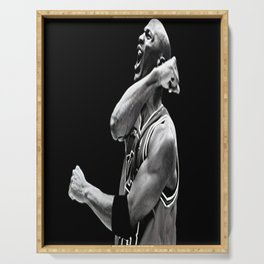 Michae-l Jordan Poster ,Print , Chica-go Bulls Quote Canvas Framed ,Motivational Wall Art Decor, Great Gift for Mancave or Game Room Serving Tray