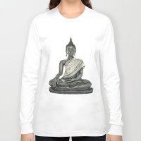 buddah Long Sleeve T-shirts featuring Buddah by Hollie B