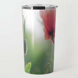 Poppy Art Nature Travel Mug