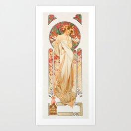 "Alphonse Mucha ""Sylvanis Essence"" Art Print"