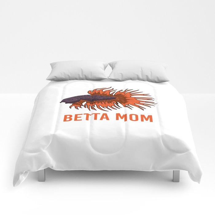 Betta Mom Mothers Fightfish Women Gift Comforters
