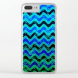 Waxy Waves Clear iPhone Case