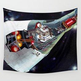 Gemini Spacecraft Diagram Wall Tapestry