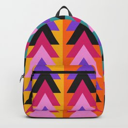 Multicolored arrows and bright stripes Backpack