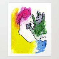 Retired Superhero Art Print