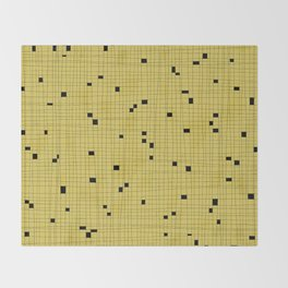 Yellow and Black Grid - Missing Pieces Throw Blanket