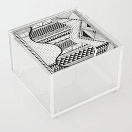 Wavy Geometric Patterns Acrylic Box