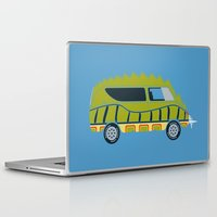 1975 Laptop & iPad Skins featuring Death Race 2000 Alligator Van by Brandon Ortwein