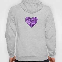 Geometric Diamond Heart - Amethyst Hoody