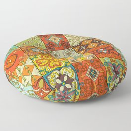 Vintage mosaic talavera ornament Floor Pillow