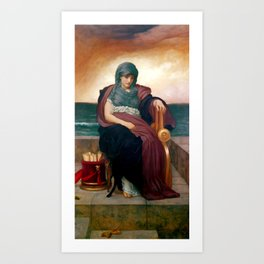 "Frederick Leighton ""The Tragic Poetess"" Art Print"