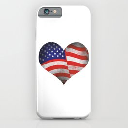 Freedom 4th Of July Liberty America Independence Day USA Heart Gift iPhone Case