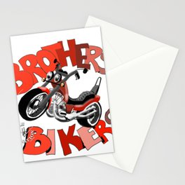 Brothers Bikers Stationery Cards