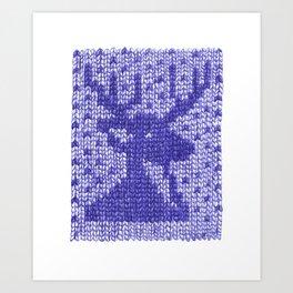 Knitting On Paper Art Print