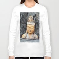 asian Long Sleeve T-shirts featuring ASIAN GODDESS by JANUARY FROST