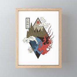 Vier Elemente Erde, Wasser, Feuer, Luft Framed Mini Art Print