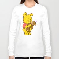 pooh Long Sleeve T-shirts featuring Pooh And Teddy by Artistic Dyslexia