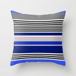 Colour Block Blue 01 Throw Pillow