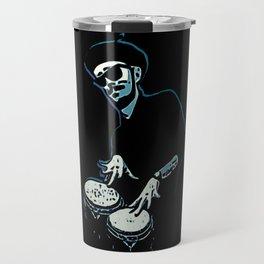 Bongo Beatin' Beatnik (Blue) Travel Mug
