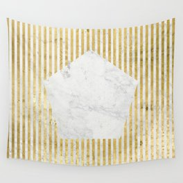 Inverse penta gold Wall Tapestry