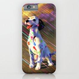 Rainbow dalmation iPhone Case