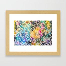 Multi Color Explosion Framed Art Print