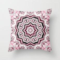 Pink and Black Kaleidoscope Throw Pillow