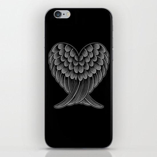Heart Wings [Reversed Version] iPhone & iPod Skin
