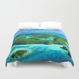 Palau Island Paradise Duvet Cover