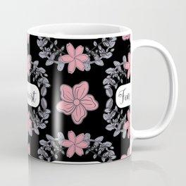 Feminist Fashion Print - Lovely Florals Coffee Mug