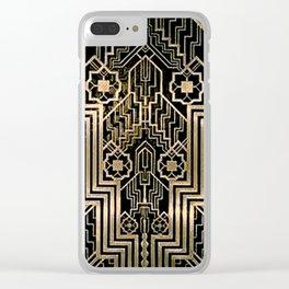 Art Nouveau Metallic design Clear iPhone Case
