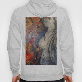 """""""ACCIDENTALLY ALIEN..."""" - Acrylic Painting   Expressionist Art   Art Gallery   Acrylic Home Art Hoody"""