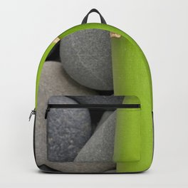 Green Bamboo Sticks on Pebble Backpack