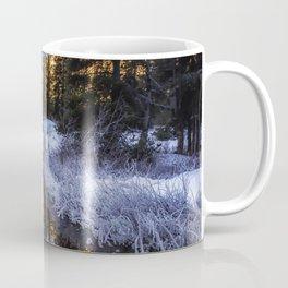 Fresh New Start winter scene snow sunrise Coffee Mug