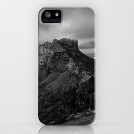 Top of Lost Mine Trail Mountaintop View, Big Bend - Landscape Photography iPhone Case