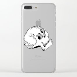 Skull Head Style Clear iPhone Case