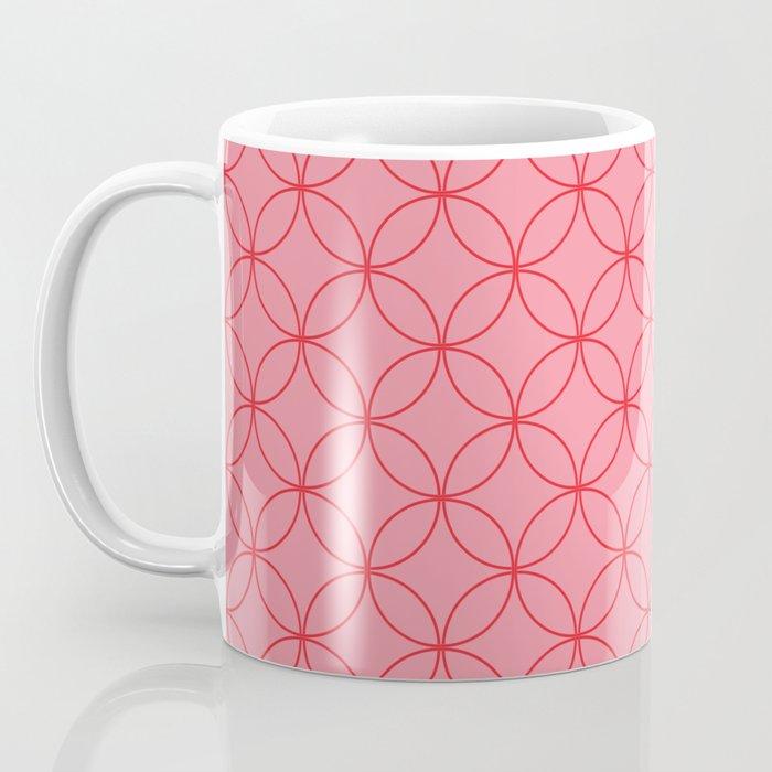 Moorish Circles - Pink & Red Coffee Mug