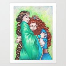 Merida and Elinor Art Print
