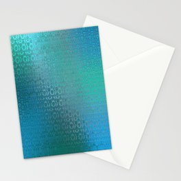 Trinity Pattern (ocean blues) Stationery Cards