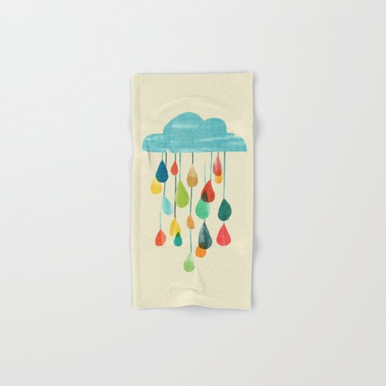 cloudy with a chance of rainbow Hand & Bath Towel