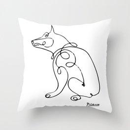 Pablo Picasso Dog Artowork, Animals Line Sketch, Tshirts, Prints, Posters, Bags, Men, Women, Kids Throw Pillow