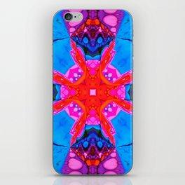 Liquid Blue Pink Fractal iPhone Skin