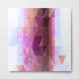 Lavender Purple Abstract Geometric Triangle Polyglen Wallart Illustration Metal Print