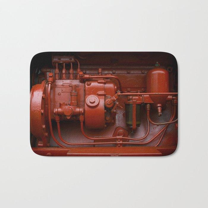 Red Tractor motor Bath Mat